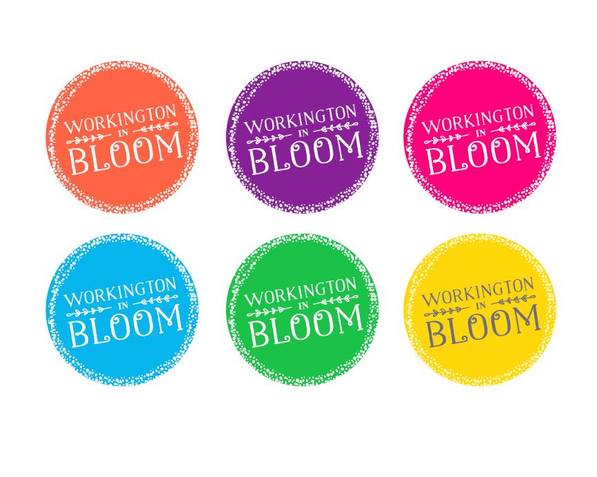 Workington in Blom logo