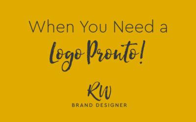 When you need a logo, pronto!