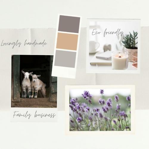 Beige Brown And Green DIY Collage Interior Design Moodboard Photo Collage 2